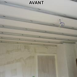Faux plafond chambre corps de ferme AVANT