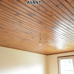 Faux plafond chambre villa AVANT